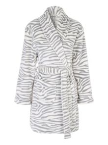 Jane Norman Mono Zebra Print Dressing Gown