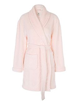 Pink Heart Embossed Dressing Gown