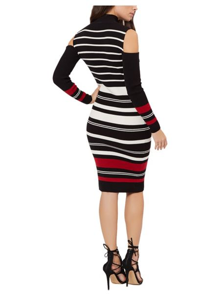 Jane Norman Multicolour Cold Shoulder Jumper Dress
