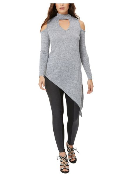 Jane Norman Cold Shoulder Asymmetric Top