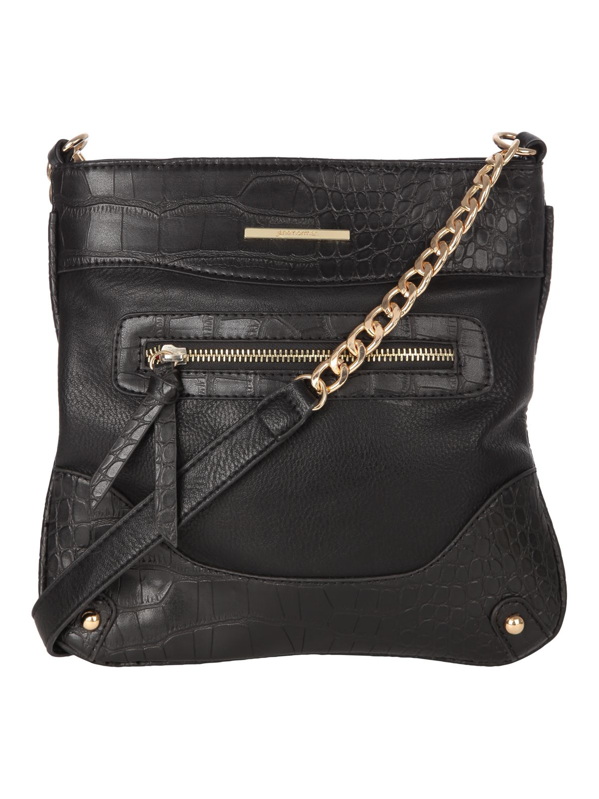 Across The Body Faux Croc Bag