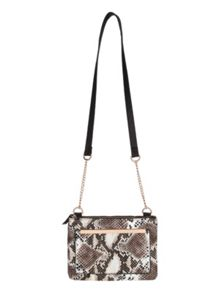Across the Body Faux Snake bag