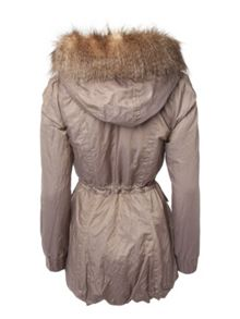 Fur Hood Parka Coat