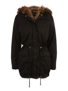 Fur lined Parka Coat
