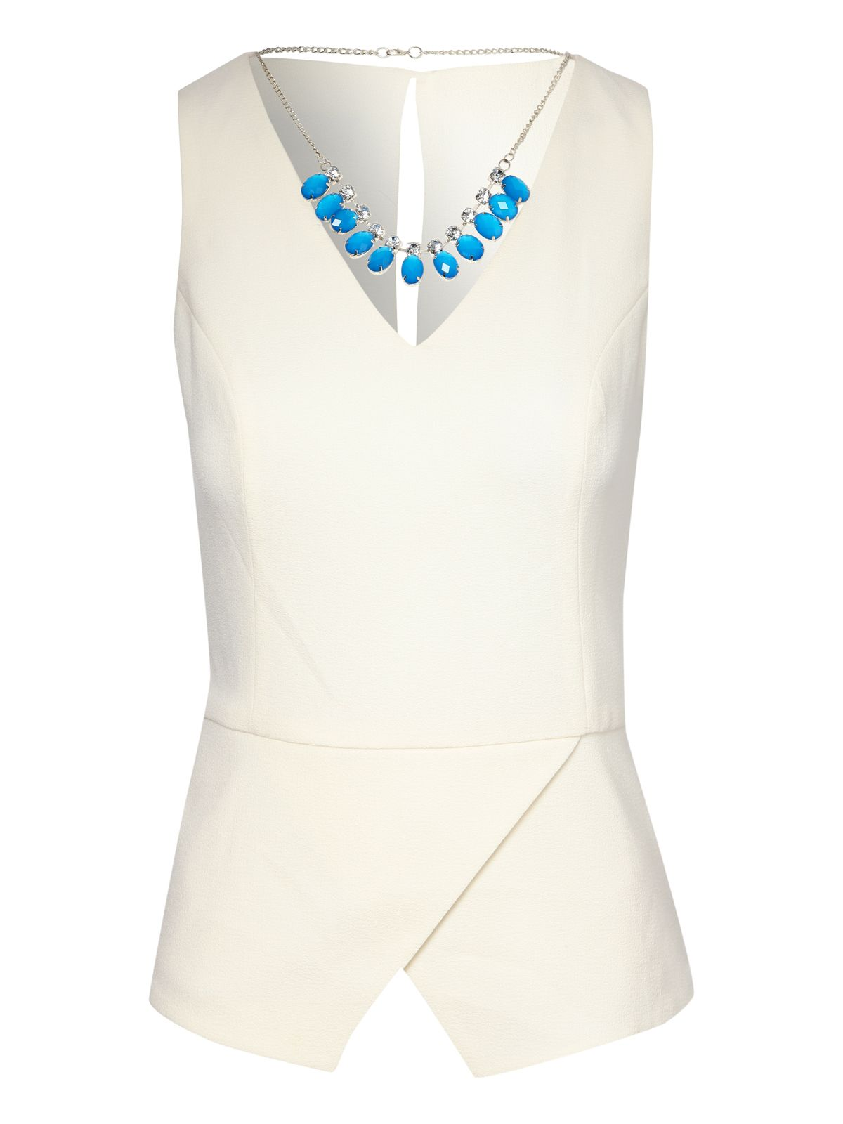 Necklace Peplum Top