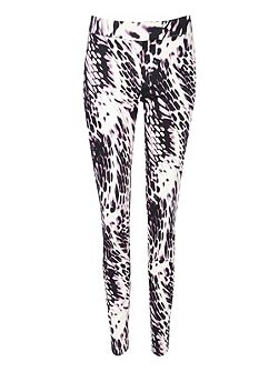 Animal Print Tailored Trousers