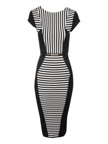 Striped Panel Dress