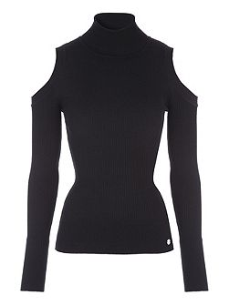 Skinny Rib Turtle Neck Jumper