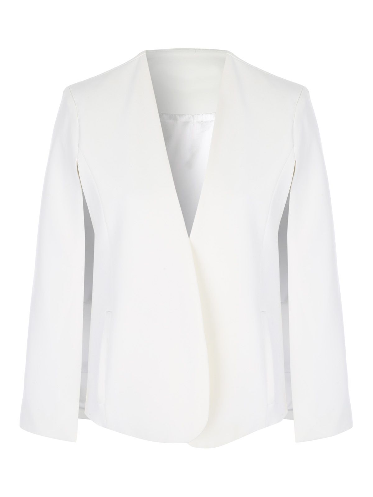 Jane Norman Cape Blazer Jacket, White