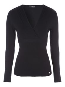 Jane Norman Long Sleeve Wrap Jumper