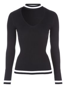 Jane Norman Monochrome Rib Jumper
