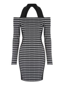 Jane Norman Stripe Bardot Dress