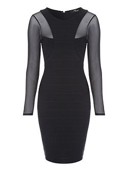 Black Bandage Mesh Dress