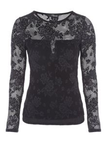 Jane Norman Floral Mesh Top