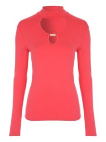 Jane Norman Long Sleeve Cut-Out Top