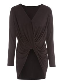 Jane Norman Slinky Drape Front Top