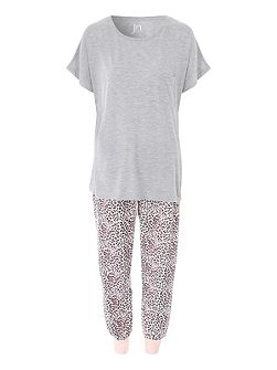 Animal Print Trouser Nightwear PJ Set