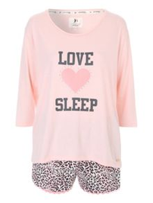 Jane Norman Love Sleep Animal Short Nightwear PJ Set