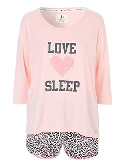 Love Sleep Animal Short Nightwear PJ Set