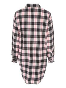 Jane Norman Over-sized Check Nightwear Shirt