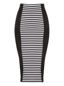 Split hem pencil skirt