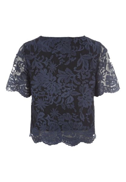 Jane Norman Scalloped Lace Co-ord Top