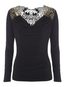 Jane Norman Brocade Back Top