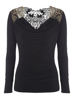 Brocade Back Top