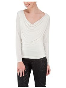 Jane Norman Sequin Trim Cowl Back Top