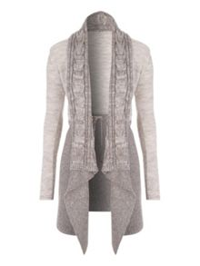 Jane Norman Two-Tone Waterfall Cardigan
