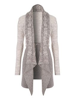 Two-Tone Waterfall Cardigan