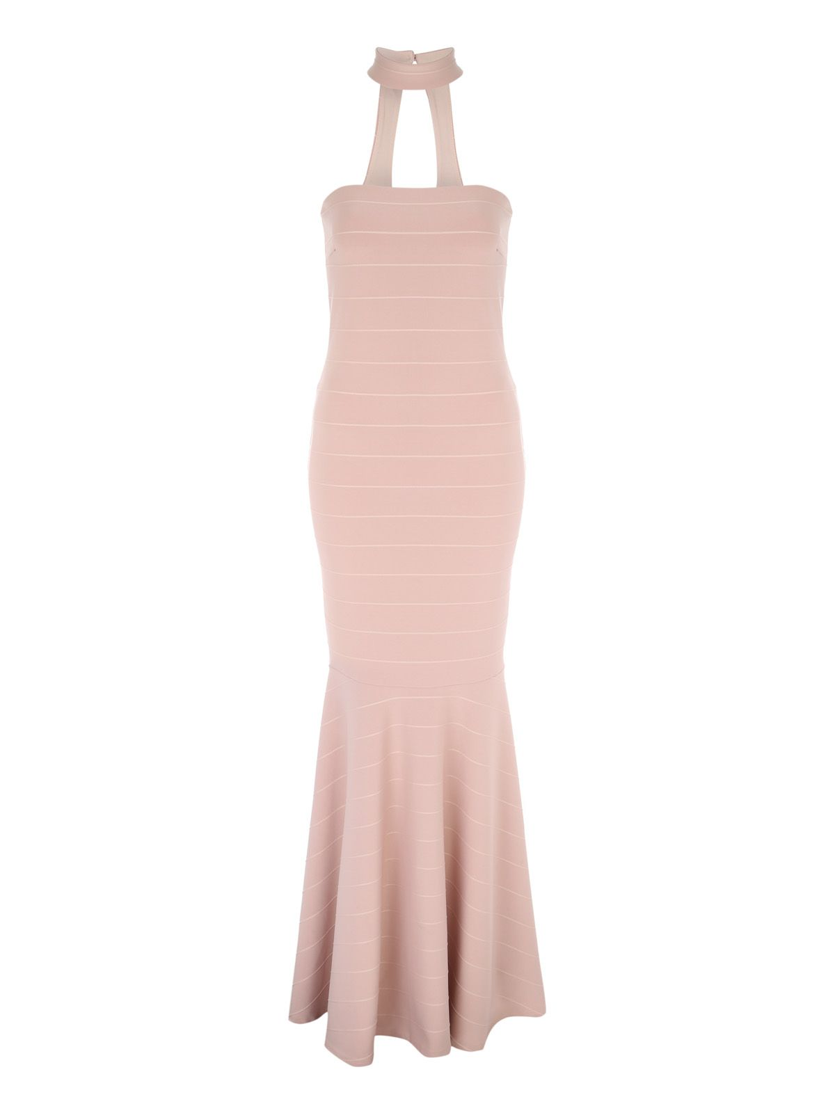 Jane Norman Maxi Bandage Dress, Nude