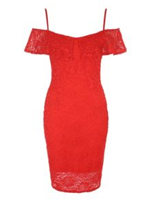 Jane Norman Lace Bardot Dress