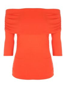 Jane Norman Ruched Bardot Top