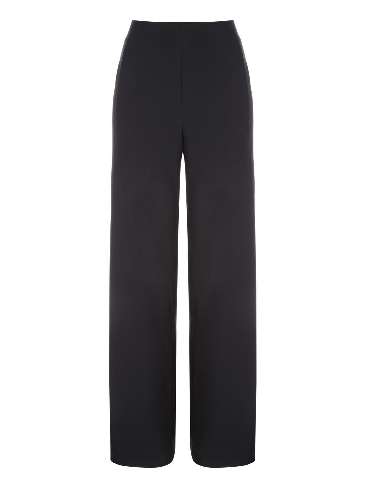 Jane Norman Black Wide Split Leg Trousers, Black