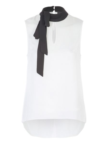 Jane Norman Pussybow Sleeveless Top