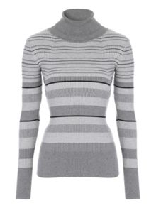 Jane Norman Lurex Stripe Rib Jumper