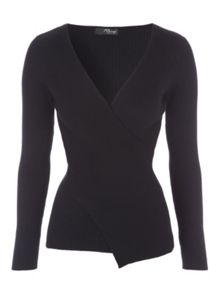 Jane Norman Wrap Rib Jumper