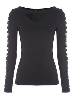 Cut-Out Long Sleeved Top
