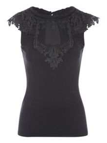 Jane Norman Sleeveless Brocade Top