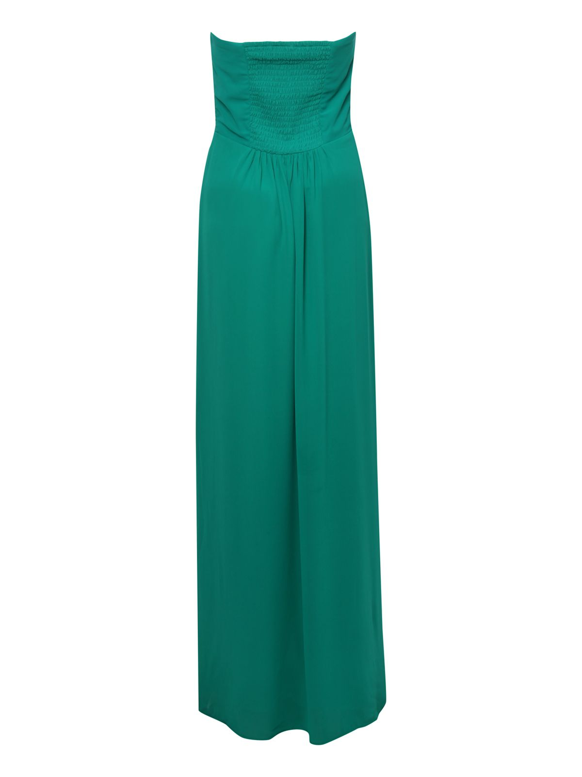 Sweetheart Pleat Bust Bandeau Maxi Dress