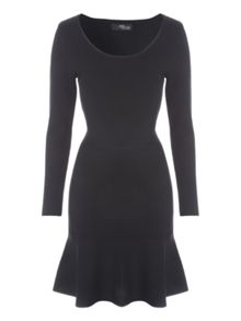 Jane Norman Black Trumpet Hem Jumper Dress