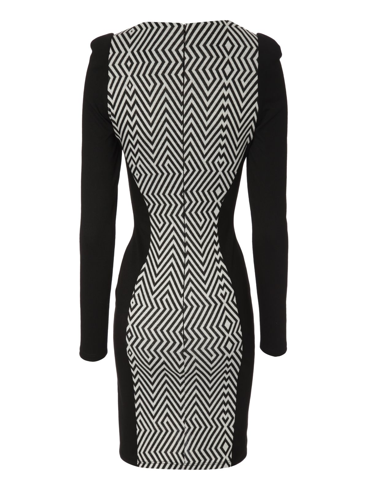 Zip hem graphic dress