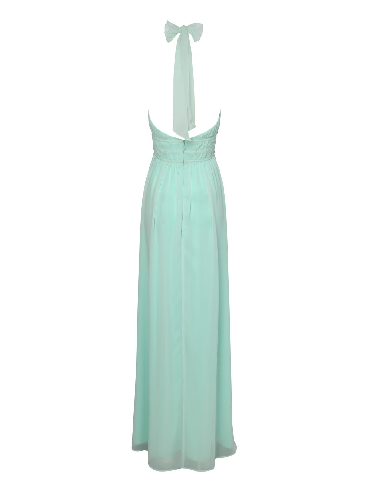 Halter neck diamante maxi dress