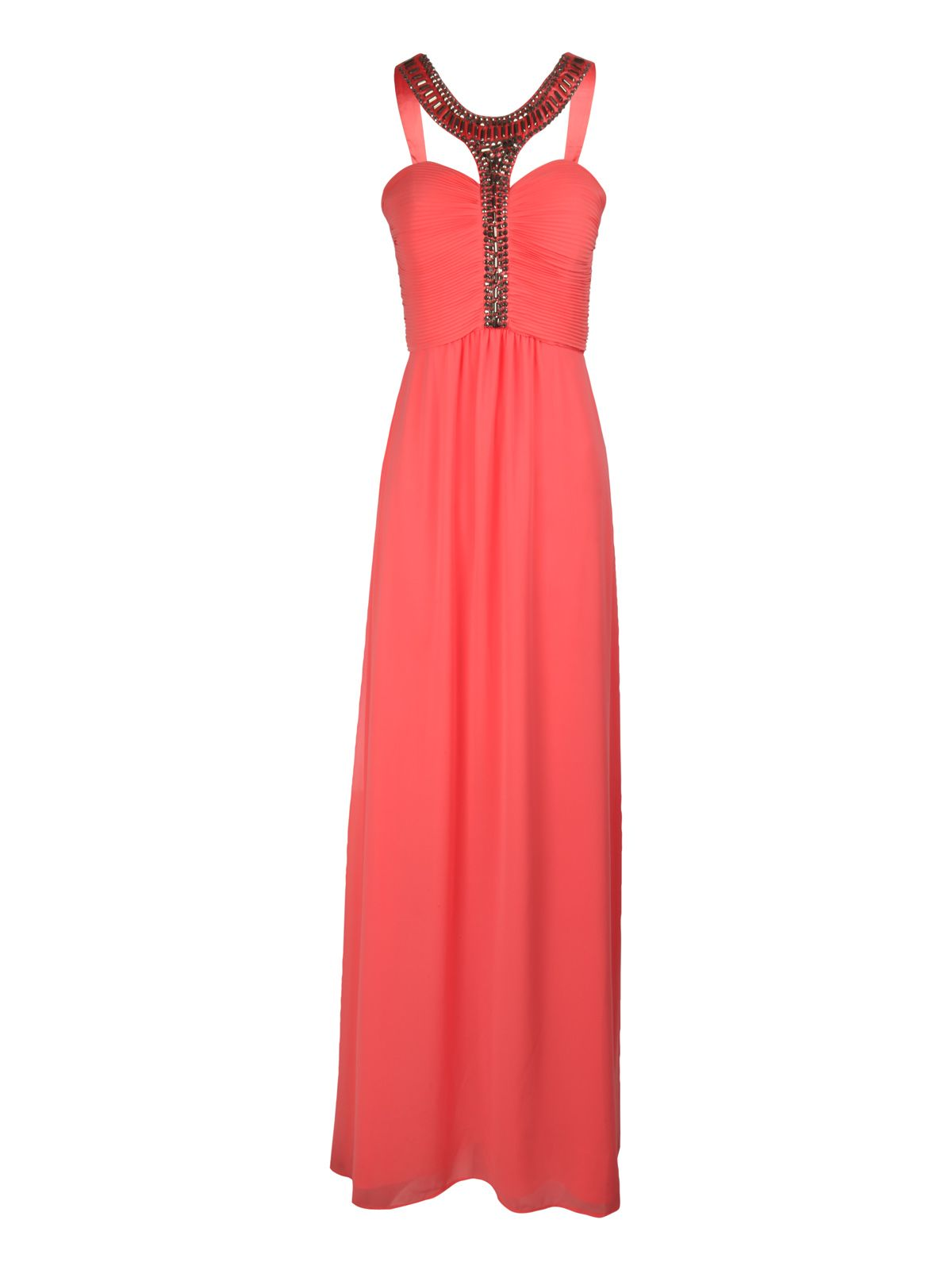 Embellished T-Bar Maxi Dress