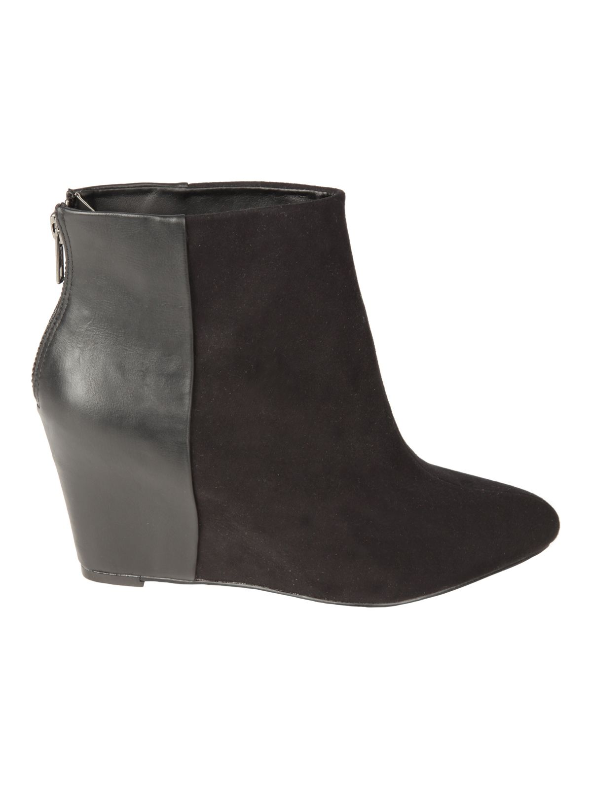 Black Contrast Wedge Boot