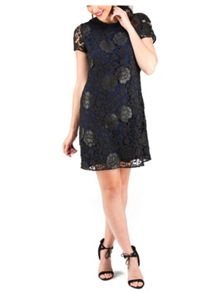 Jane Norman PU Lace Short Shift Dress