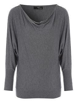 Grey Zip Shoulder Jumper