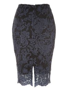 Jane Norman Scalloped Lace Pencil Co-ord Skirt