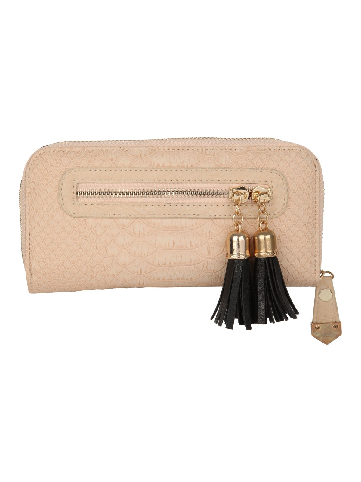 Tassel zip purse